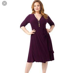 Kiyonna Essential Wrap Dress Jersey Nwt